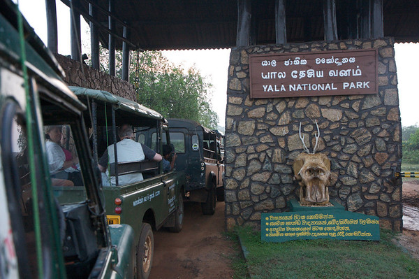 Entry gates to Yala National Park, Sri Lanka