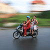 Vietnam Transportation : Vietnam is the land of motorbikes.  This gallery captures the motorbike and transportation culture that is so prevalent in Vietnam.
